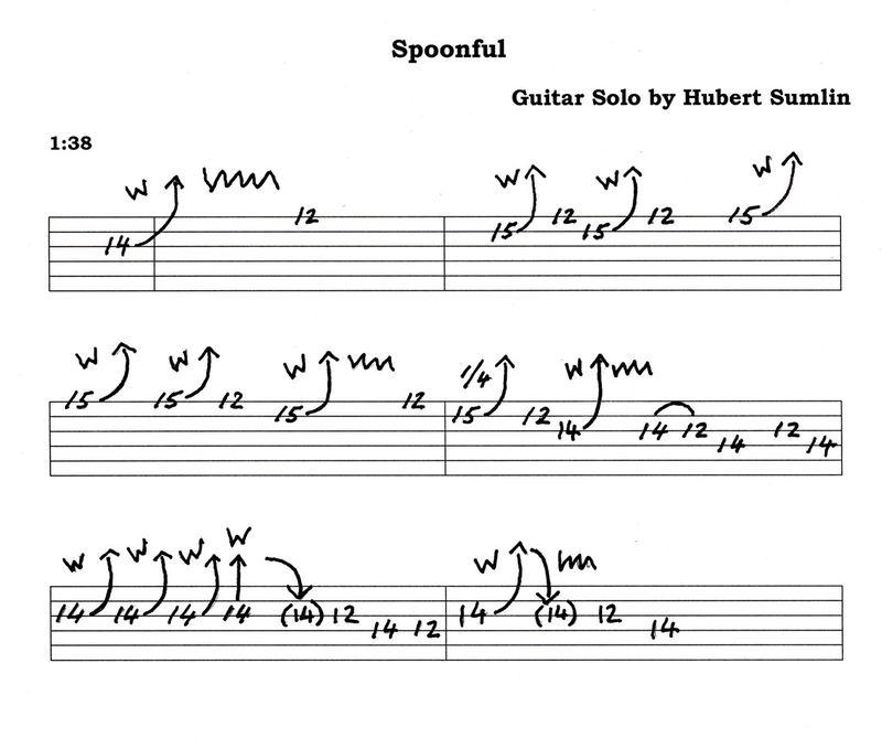 Hubert Sumlin Spoonful Solo