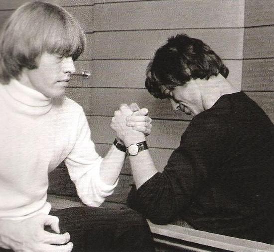 Brian and Mick Armrestling