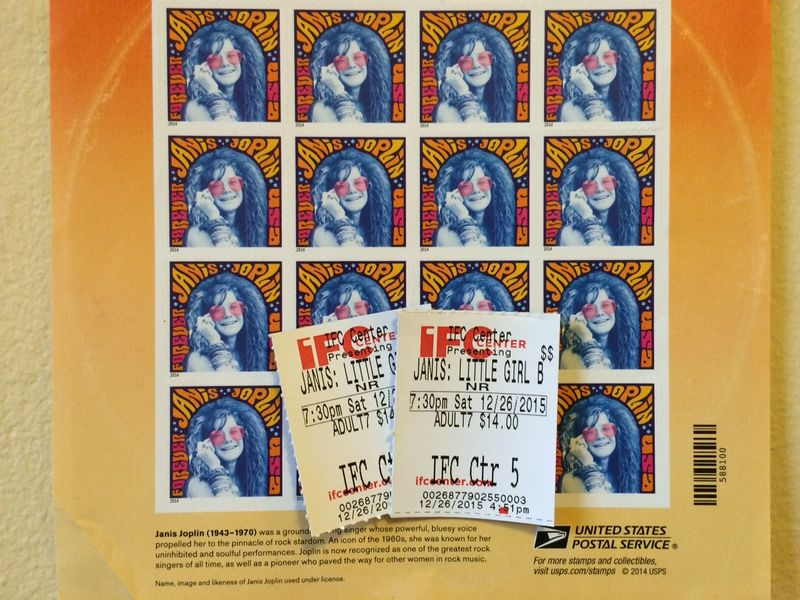 Janis Joplin Stamps and Tix2